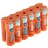 Jupio Power Clip - boite de rangement pour 12 piles AA