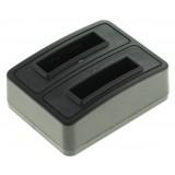 Chargeur duo pour 2 batteries Ricoh DB-100 et LB050