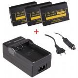3 batteries LP-E17 pour appareil photo Canon + chargeur