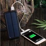 Batterie Externe Powerbank - Puissance Extra - Solaire - 20 000 mAh