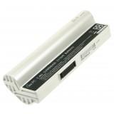 Batterie ordinateur portable 07G016YF1865 pour (entre autres) Asus Eee PC (White) - 4600mAh